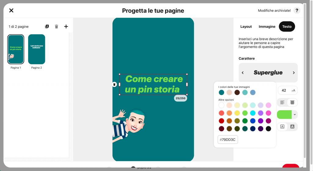 Come creare un pin idea