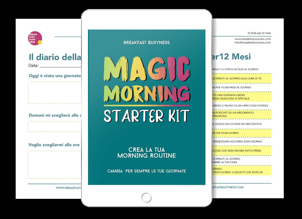 Mokeup du iPad del corso Magic Morning Starter Kit
