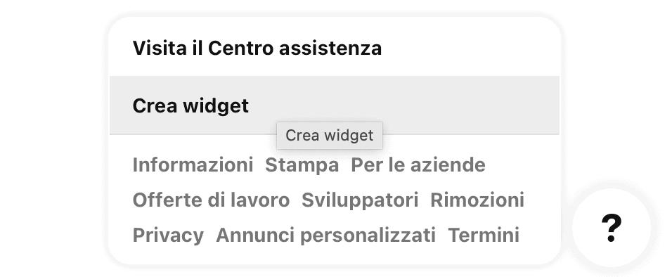 Come creare un widget dal sito Pinterest